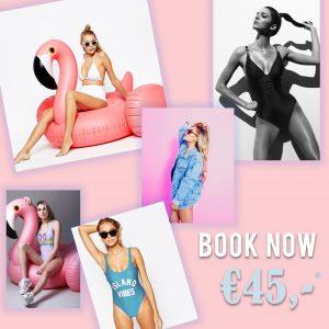 fotoshoot, actie, flamingo, badpak, bikini, studio